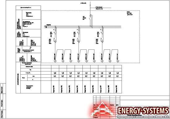 Электросхема №5 временного электропитания стройплощадки фото